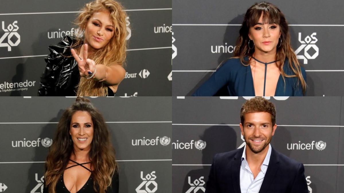 Algunos de los invitados de la cena de nominados de Los 40 Music Awards.