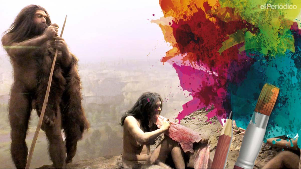Els neandertals també pintaven en coves