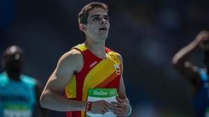 El atleta español, Bruno Hortelano, durante la prueba de los 200 metros de los Juegos Olímpicos de Río.