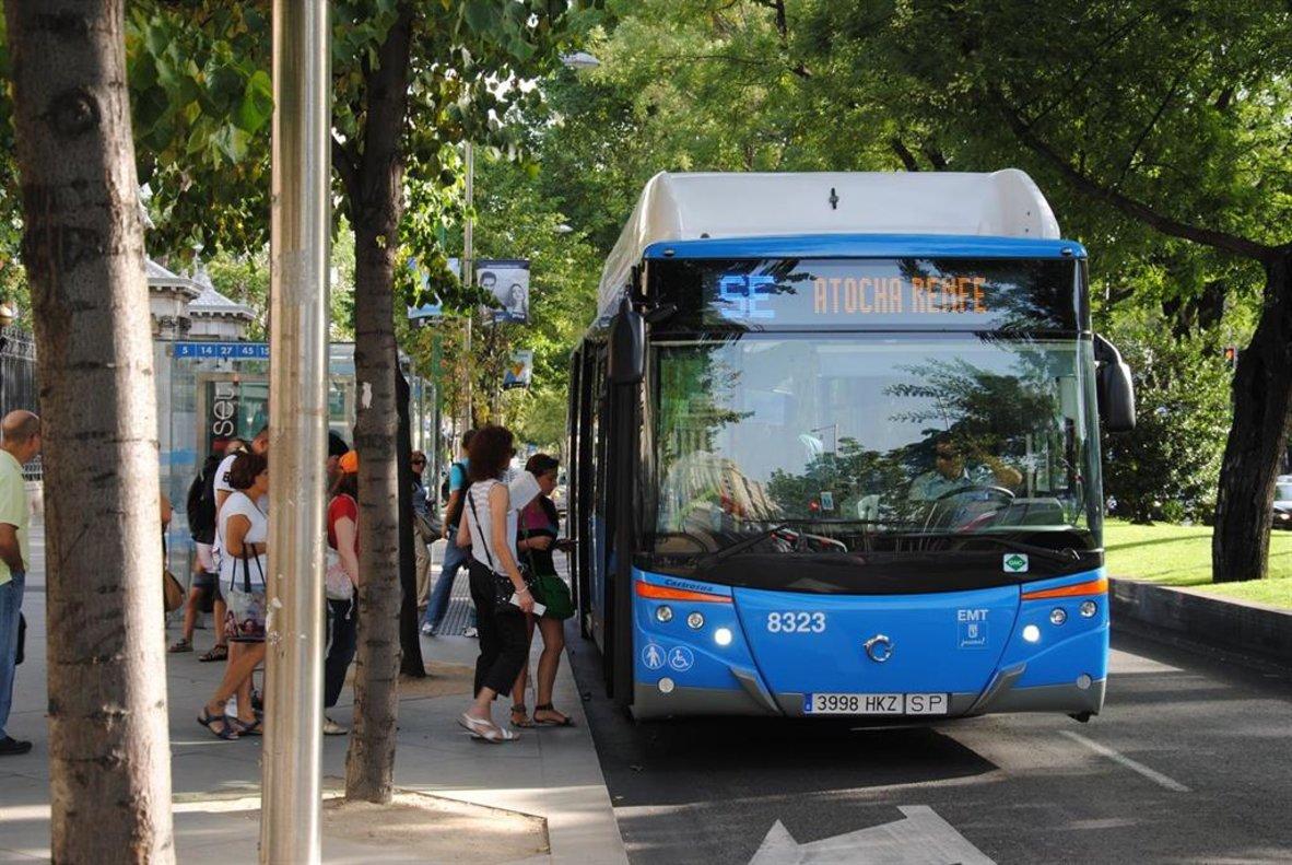 Un autobús de la EMT.