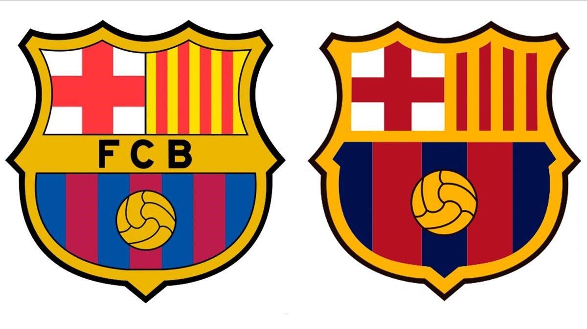 El escudo actual y la nueva propuesta