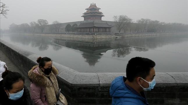 La nube tóxica apenas deja entrever la Ciudad Prohibida de Pekín