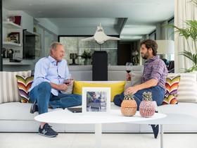 Bertín Osborne y Feliciano López, en 'Mi casa es la tuya'.
