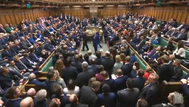 Interior de la Cámara de los Comunes.