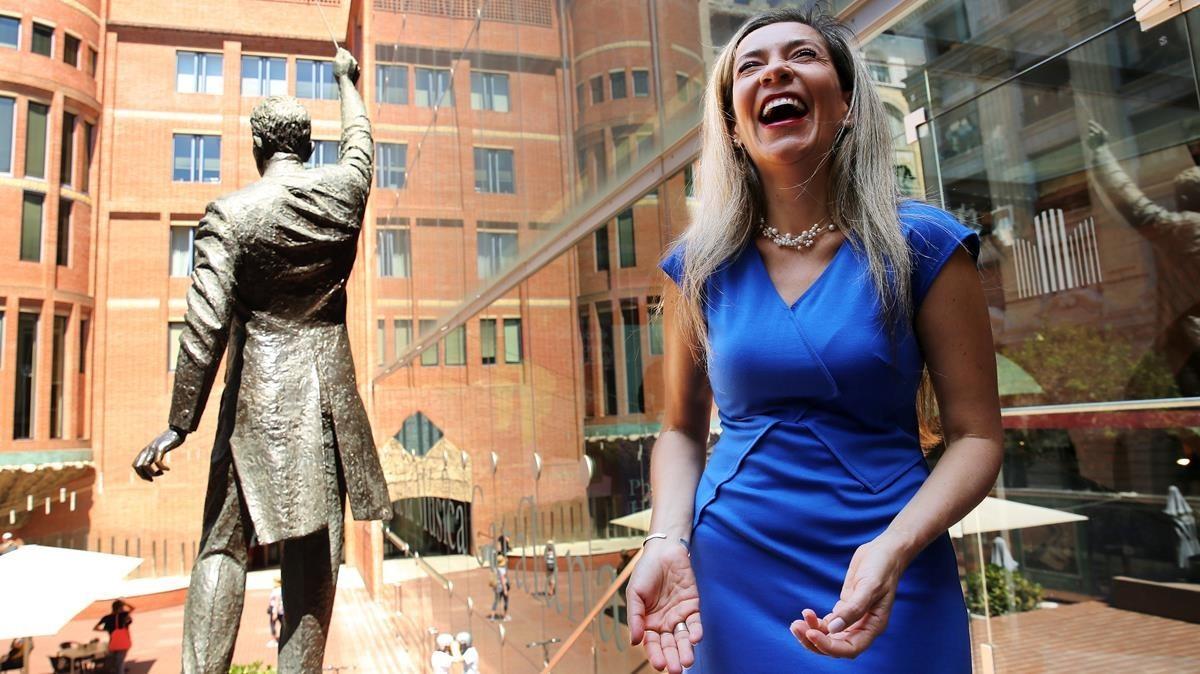 La cantante Patricia Caicedo, en el Palau de la Música.
