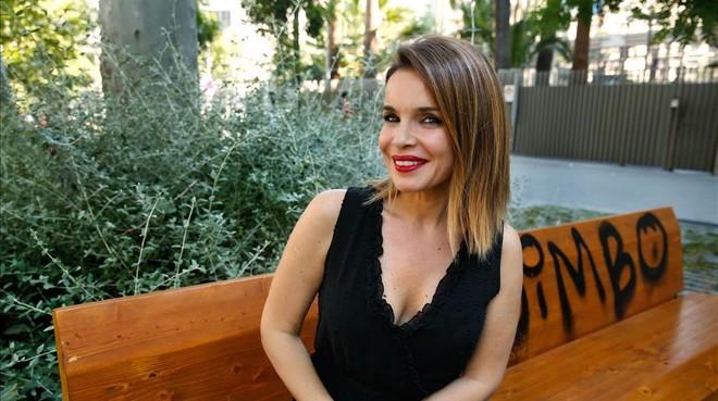 La periodista Carme Chaparro, en Barcelona, en la promoción de su nueva novela La alquimia del odio.