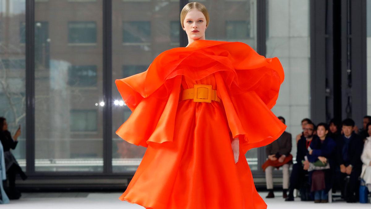 Carolina Herrera presenta su colección Otoño Invierno 2020 en Nueva York.