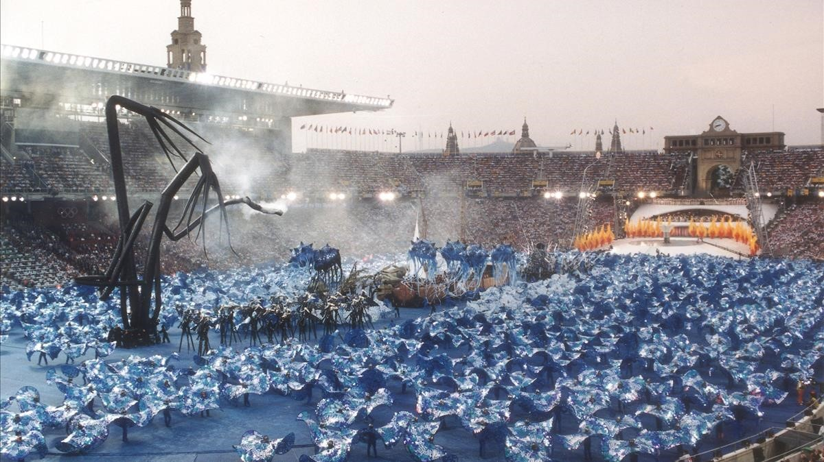 Ceremonia de inauguración de los JJOO de Barcelona.