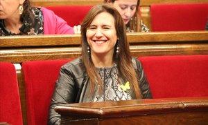 La consellera de Cultura, Laura Borràs, en el Parlament.