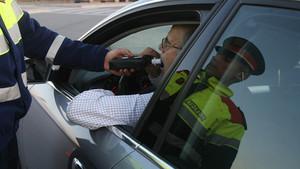 Un control de alcoholemia de los Mossos dEsquadra.