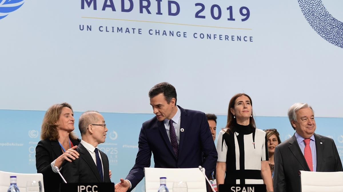 Cumbre del clima. Intervención de Pedro Sánchez en la jornada inaugural.