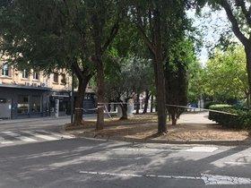 Desalojada la plaza de las Tereses de Mataró por el hallazgo de un antiguo artefacto explosivo.