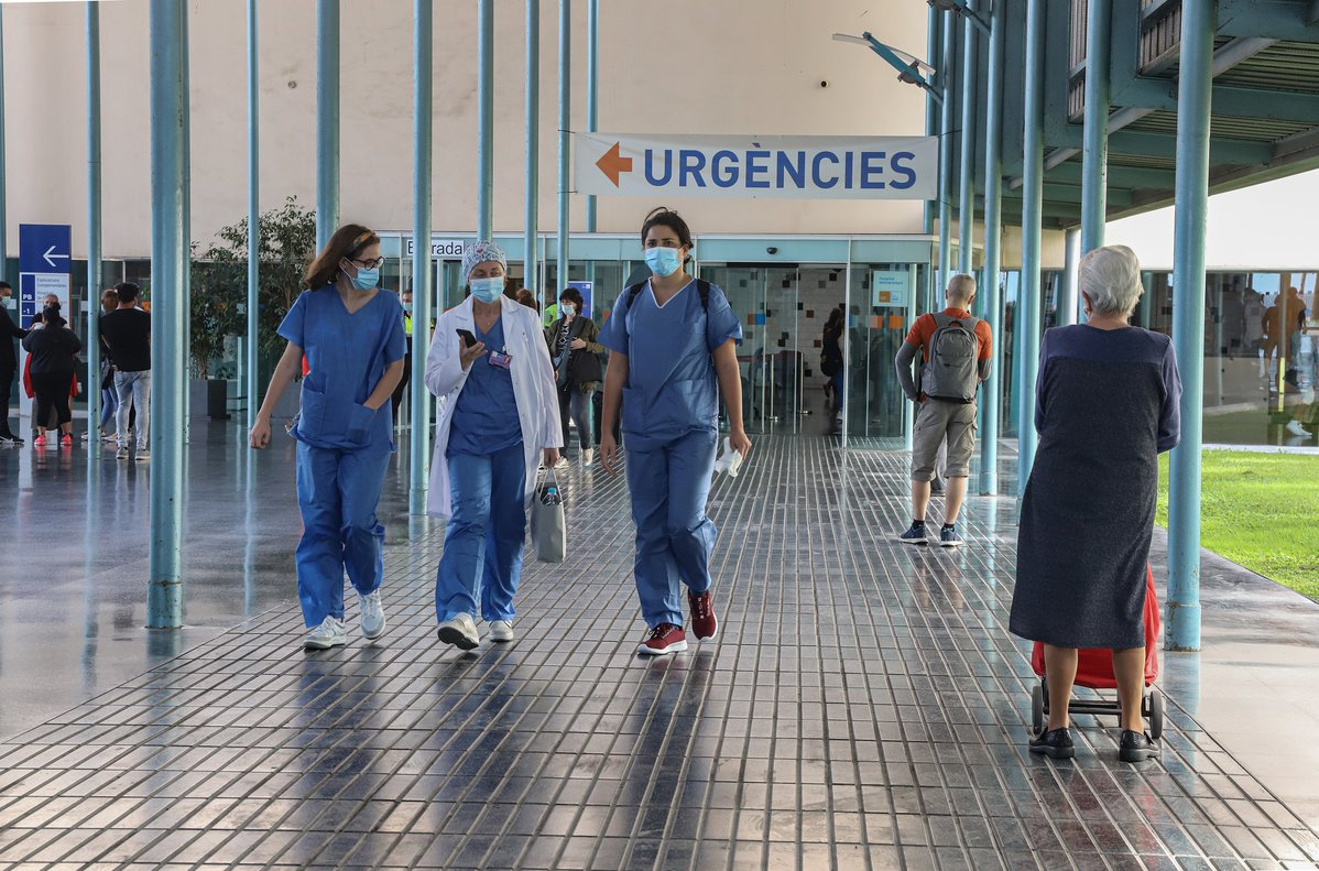 Entrada del Hospital del Mar, que ha encabezado la investigación
