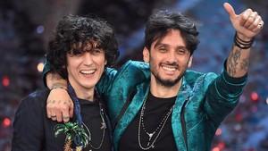 Ermal Meta y Fabrizio Moro (derecha), ganadores el Festival de San Remo y representantes de Italia en Eurovisión.