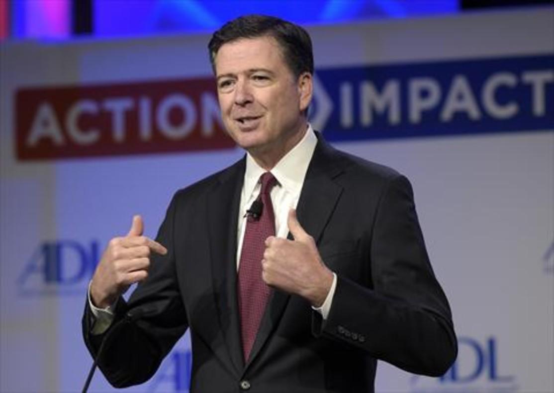 El exjefe del FBI James Comey.