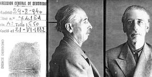 Ficha policial del 'president' Lluís Companys.