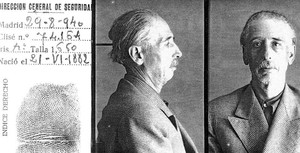 Fitxa policial del president Lluís Companys.