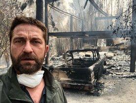 Gerard Butler mostra casa seva, completament devastada pel foc