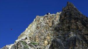 El glaciar de los Dolomitas, en los Alpes Orientales, pierde su masa por las altas temperaturas.