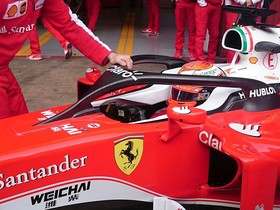 El halo instaurado a modo de prueba en Ferrari