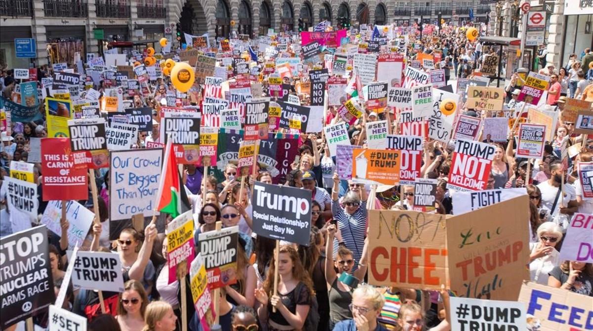 Imagen de la manifestación en Londres.