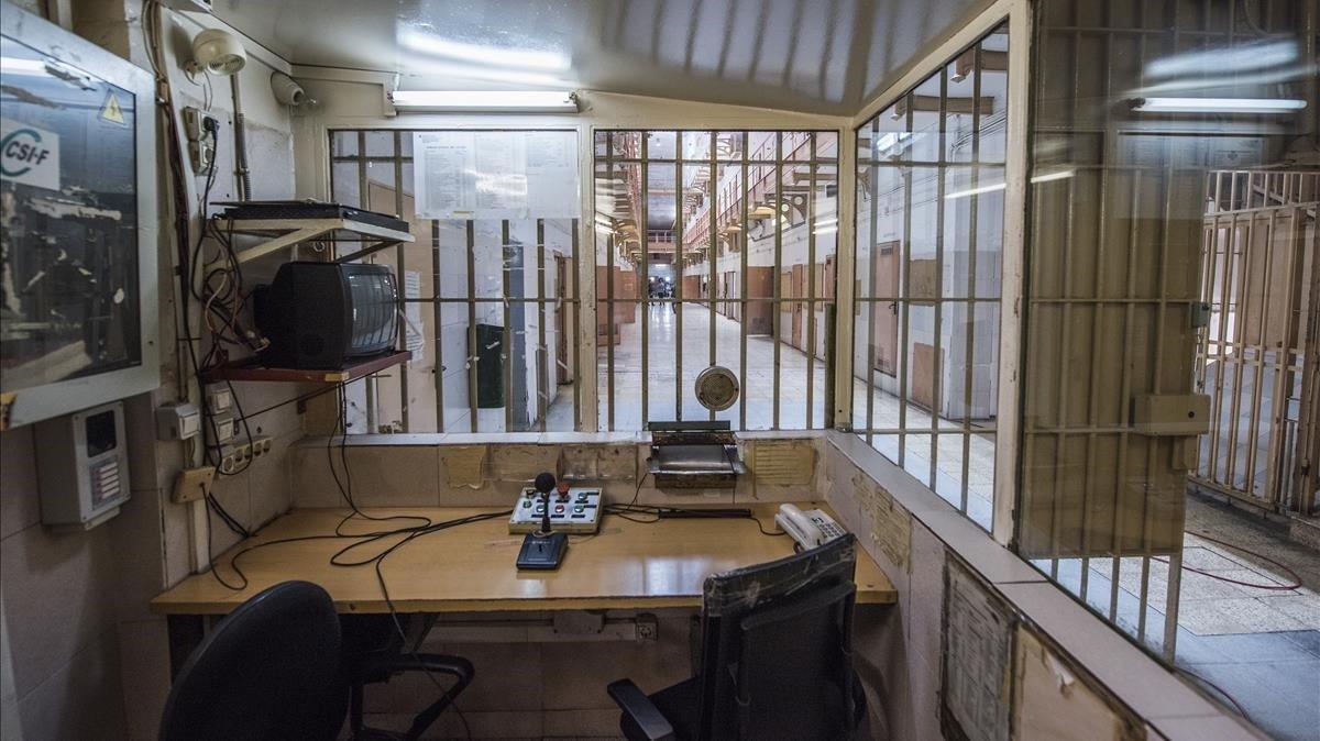 Interior de la cárcel Modelo.