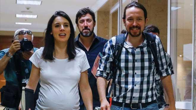 Irene Montero y Pablo Iglesias, padres por tercera vez.