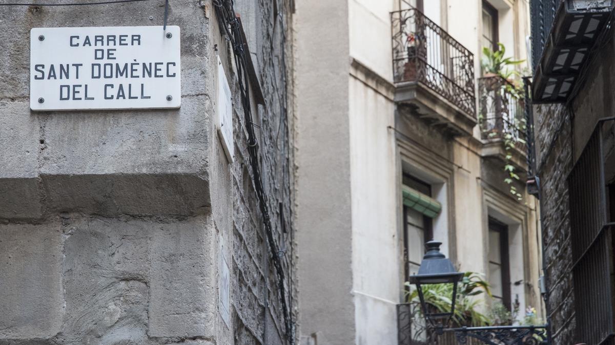 La calle de Sant Domènec del Call, parte del antiguo barrio judío de la ciudad.