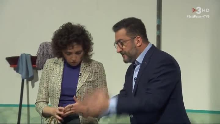 Judit Martín y Toni Soler en 'Està passant', en TV3.