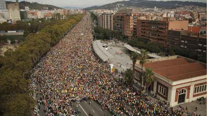 Las Marxes per la Llibertat ya llegan a Barcelona