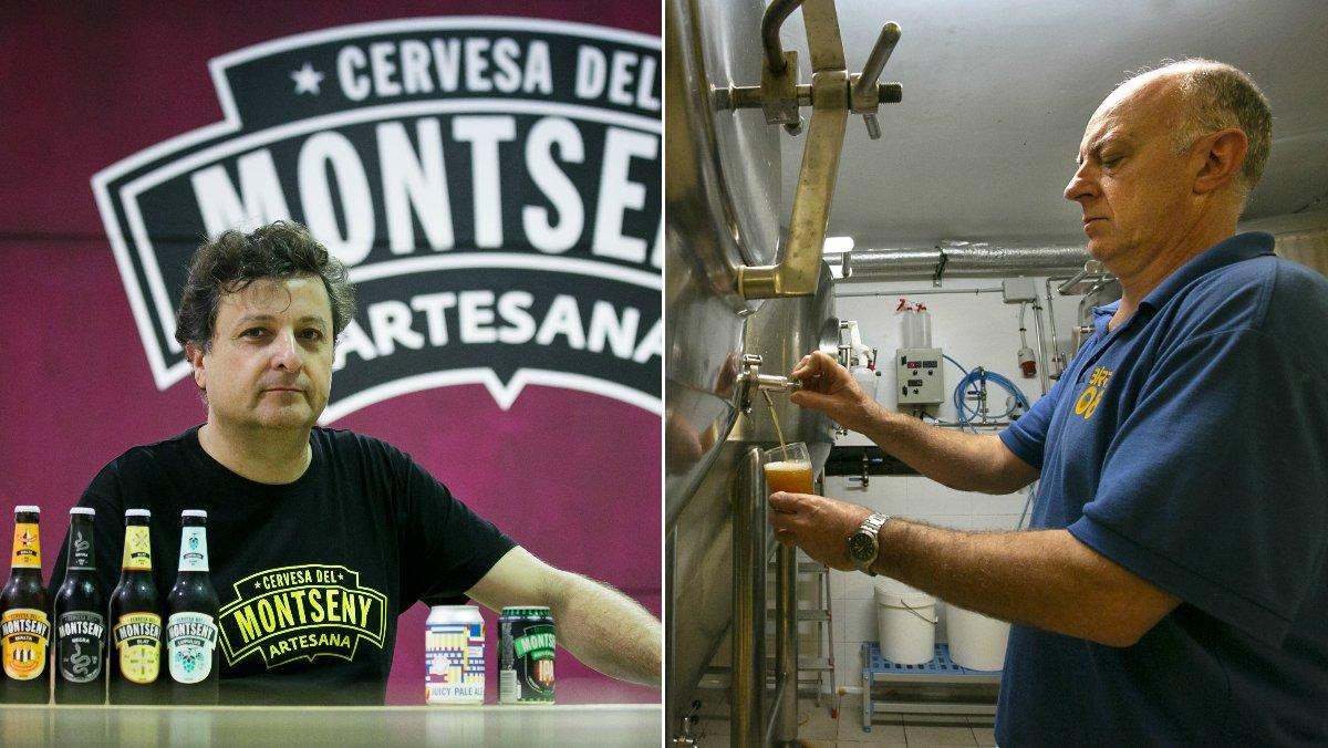 Julià Vallès, de la cervecera Cervesa del Montseny, en Seva(izquierda) y Jaume Batlló, de la barcelonesa Birra 08, (derecha).