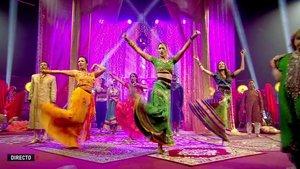 Los concursantes bailando en la prueba semanal de 'GH VIP: El debate'.
