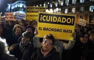 Manifestación contra el machismo.