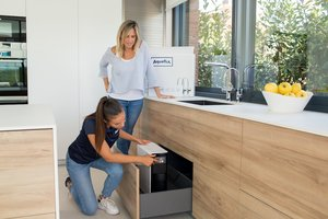 La máquina de osmosis se instala debajo del grifo sin ningún coste añadido.