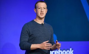 Mark Zuckerberg, fundador de Facebook, en una conferencia en París.
