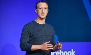 Mark Zuckerberg, fundador de Facebook, en una conferencia en París.
