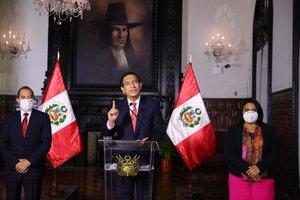 Vizcarra denunció a quienes difundieron las grabaciones como parte de un complot contra la democracia.