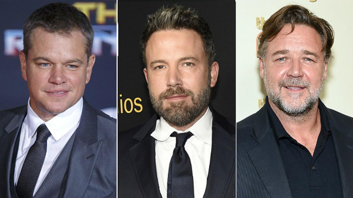 Matt Damon, Ben Affleck y Russell Crowe acusados de encubrir a Harvey Weinstein.