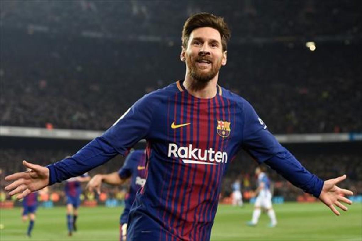 Messi celebra un nuevo tanto decisivo.