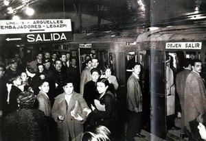 Imagen del Metro de Madrid en 1919.