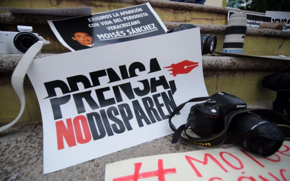Protestas por los asesinatos de periodistas en México.