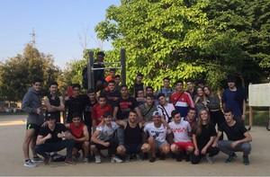 Miembros del grupo de Street Workout de Cornellà