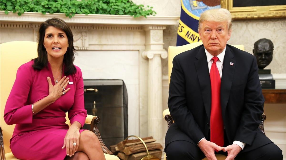Nikki Haley, embajadora de EE.UU en la ONU, presenta su dimisión a Trump