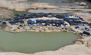 Un campamento minero en perú. AP