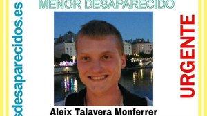 El menor desaparecido en Lyon, Aleix Talavera