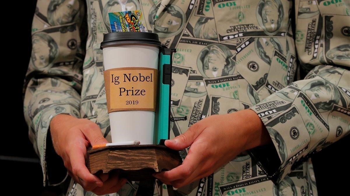 Trofeo de los premios Ig Nobel.