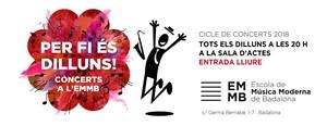 El primero de los conciertos será el lunes 1 de octubre, a las 20 horas, en Centro Cívico Dalt la Vila.
