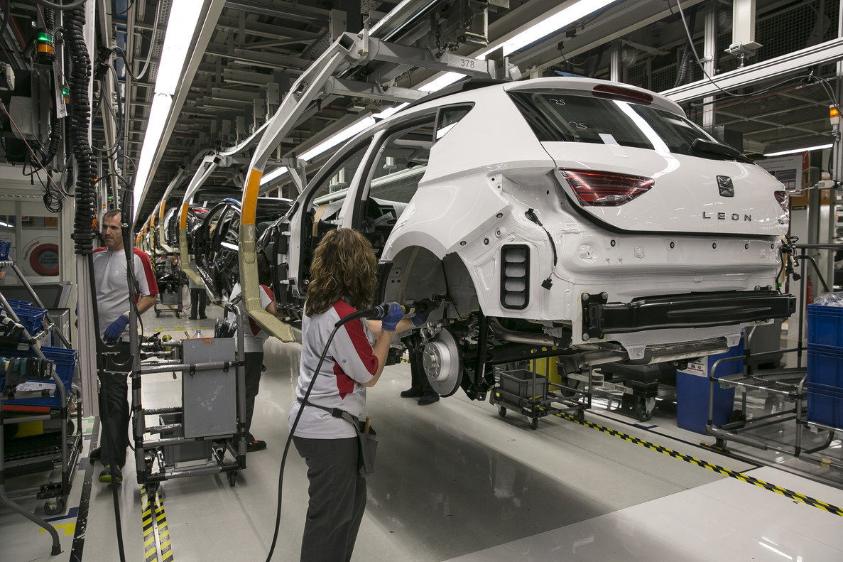 La producción industrial de Catalunya se dispara un 15% en abril de 2018