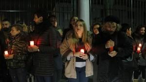 Protesta en Sant Adrià por el crimen machista.