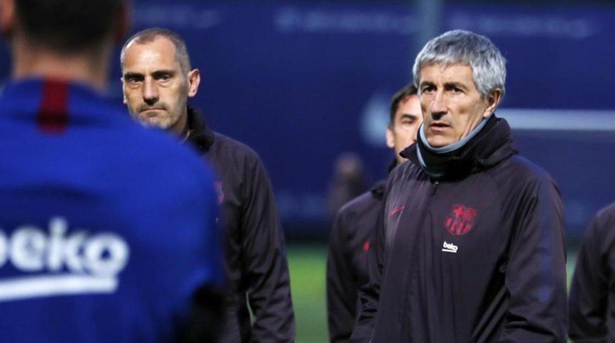 Quique Setién espera que su Barça empiece a despegar ante el Getafe.